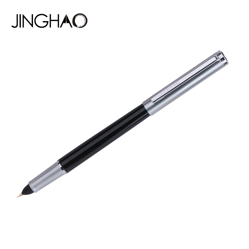 0.38mm Extra Fine Finance Fountain Pen Duke Metal Black-silver Hooded Nib Inking Pens Writing Stationery with an Original Box duke 318 art nib fountain pen 0 8mm 1 0mm writing point calligraphy pen iraurita writing pens with an original box free shipping