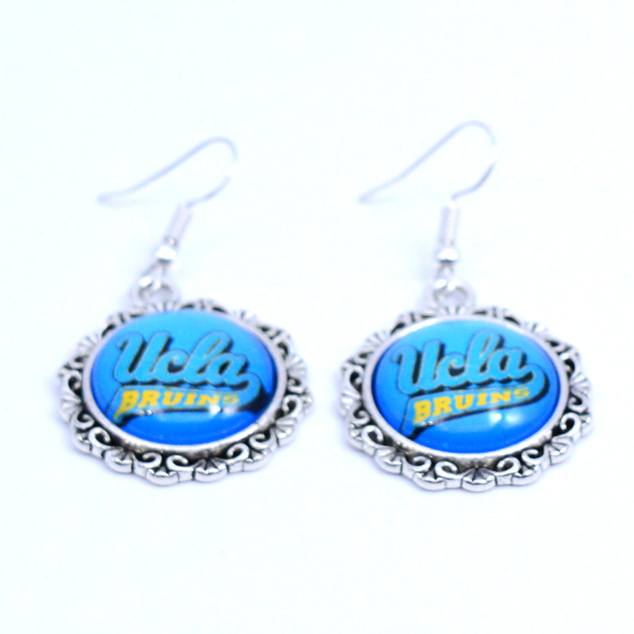 Earrings <font><b>UCLA</b></font> Bruins Charms Dangle Earrings Sport Earrings Football Jewelry for Women Birthday Party Gift 5 pairs image