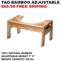 Exclusive Luxury Foot Massage Squatty Potty Tao Bamboo Adjustable 7 9 Height Handmade Toilet Stool For Your Bathroom