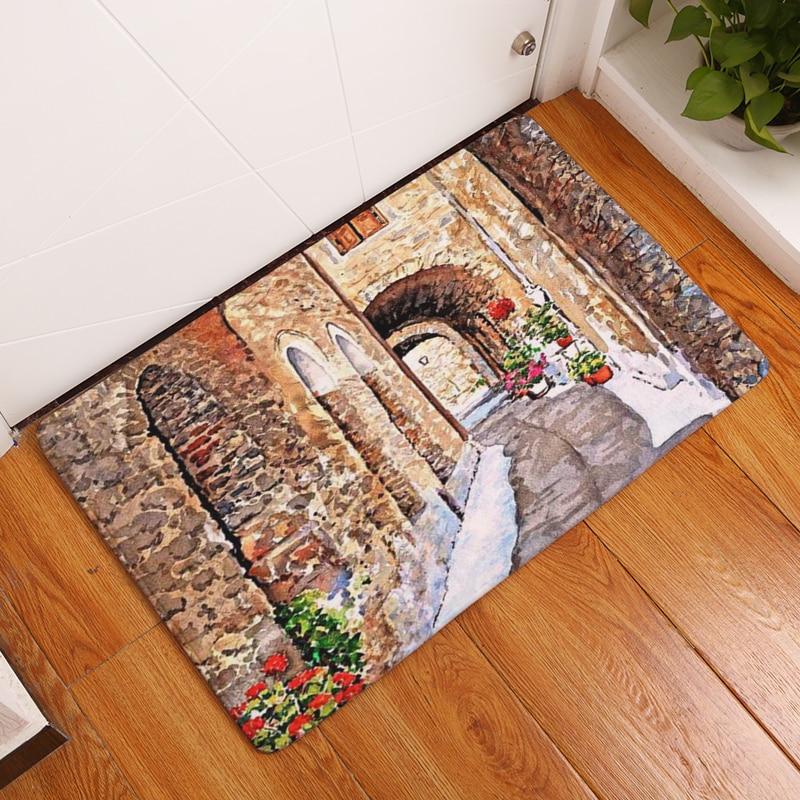 2017 Baru Dekorasi Rumah Indah SceneryCarpets non-slip Karpet Dapur - Tekstil rumah - Foto 3
