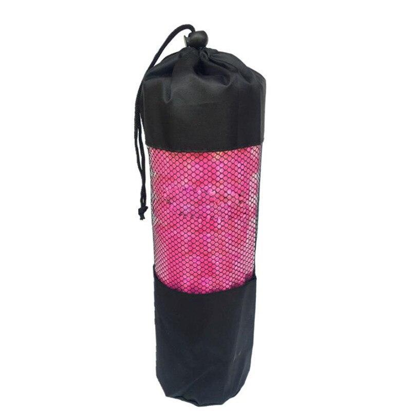 Black Mesh Outdoor Yoga Pilates Mat holder Bag Drawstring Bags Gym Fitness Exercise Yoga ...