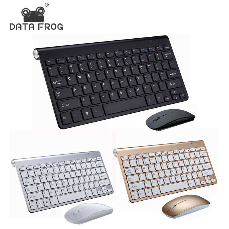 DATA FROG 2.4G clavier sans fil Portable souris clavier pour Mac/Notebook/TV Box/PCRussian clavier pour IOS Android Win 10 7