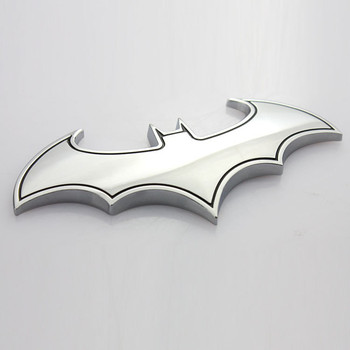 3D Metal Bat Auto Logo Car Batman Badge Emblem Motorcycle Creative Sticker For BMW E46 E90 E60 E39 E36 F30 F10 X5 E53 G30 image