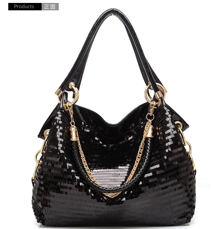 X-Online Hot Sale Women Handbag Female Fashion Blingbling Tote Lady Shoulder Bags