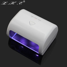 LKE Newest Professional Portable 9W 12V White LED UV Nail Lamp Gel Curing Nail Dryer for Nail Lamp Art Tools 30s/60s/90s Timer