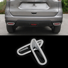 For Nissan X TRAIL X-trail Xtrail T32 Rogue 2014 2015 ABS Plastic Foglight Reflector Rear Fog Light Lamp Cover Trim sticker 2pcs car dashboard mat cover pad sun shade instrument covers protective carpet for nissan rogue x trail xtrail x trail t32 2014 2018