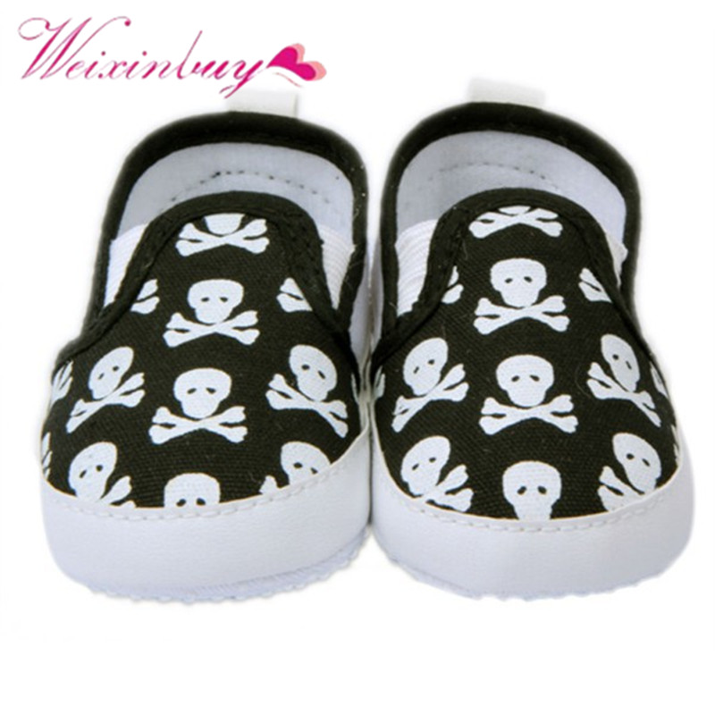 2017 Loafers 0-12M Baby Shoes Kids Boy Girl Toddler Skull Soft Sole Anti-Slip Sneakers Shoes 1 Pair Slip-on Shoes