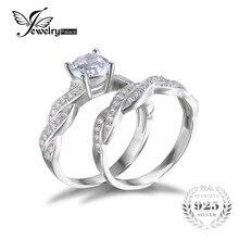 Бесконечности годовщина обещание алмазный jewelrypalace имитация обручальное стерлингового серебра невесты изделий