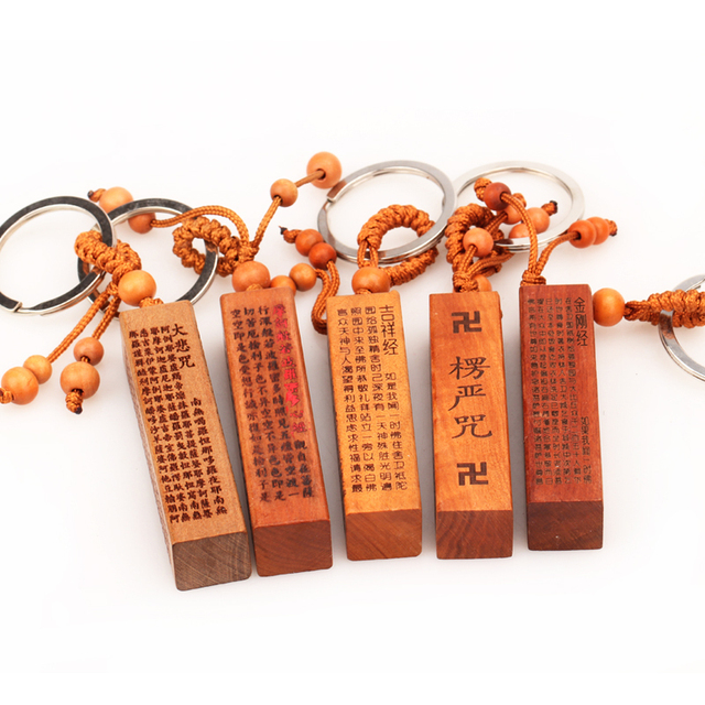 Touch Court Opening Zaomu Dess Of Mercy Heart Sutra Compion Mantra Bless Keychain Car Key Ring
