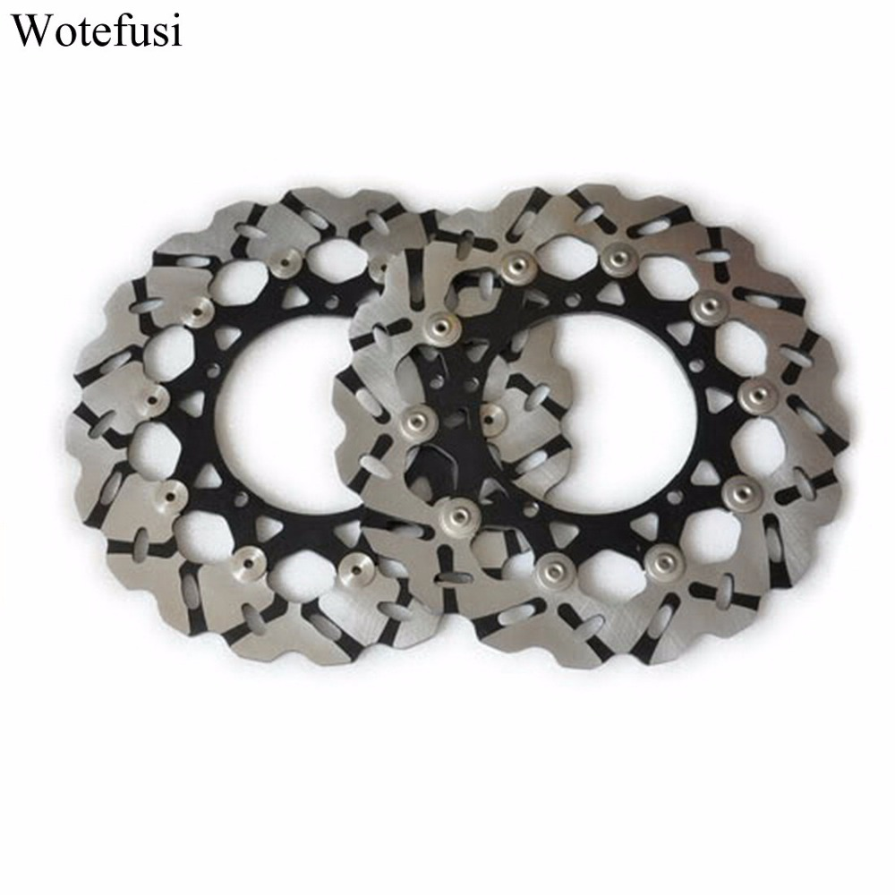 Wotefusi Front Rotor Brake Disc Sport Performance For Yamaha YZF R1 07 08 09 2010 [MT72] keoghs motorcycle brake disc brake rotor floating 260mm 82mm diameter cnc for yamaha scooter bws cygnus front disc replace