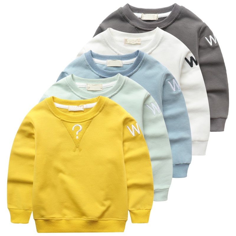 Autumn Baby Boys Sweatshirt Girls Hoodies Candy Color Kids Letter T Shirt Cotton Long Sl ...