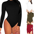 Rompers Womens Jumpsuit Sexy Lady Long Sleeve Backless Skinny Slim Fit Bodysuits Short Overalls Playsuits Plus Size S-3XL