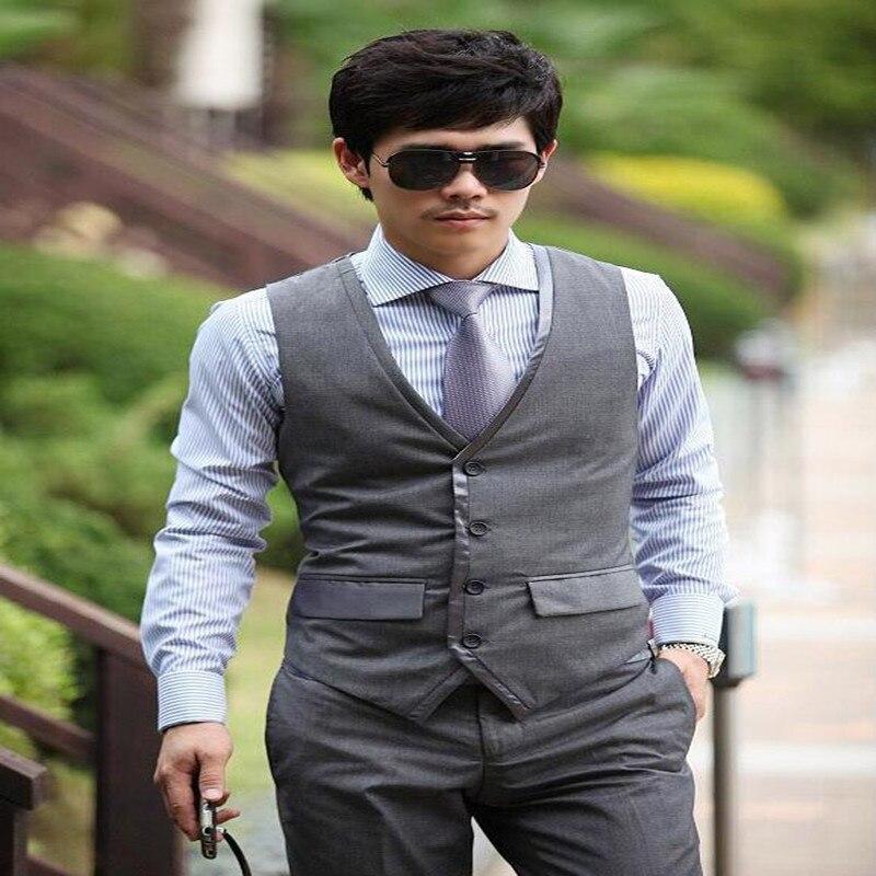 New Fashion Leisure Simple Generous clothing Wedding Suits For Men Three Piece Suits (Jacket+Pants+Vest+tie)