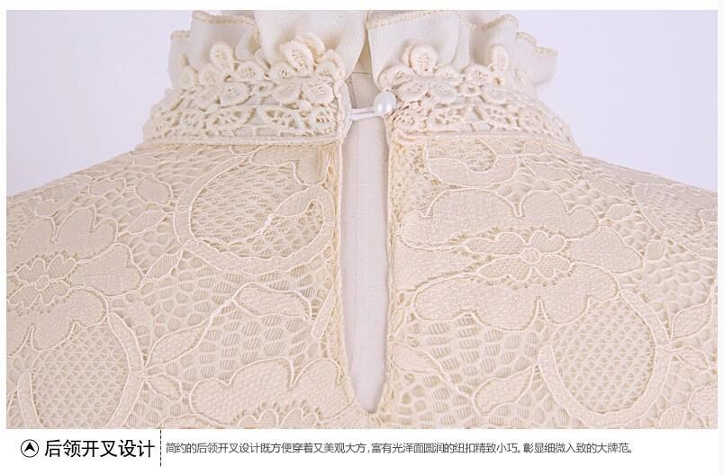 HTB1hwnzGVXXXXbQaXXXq6xXFXXXP - New Lace Shirt Women Clothing Blusas Femininas Blouses