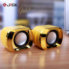 JRGK Mini Portable Speakers USB Stereo Clip-on line Controller Soundbar for Desktop Laptop Notebook Mp3 PC Computer(China)