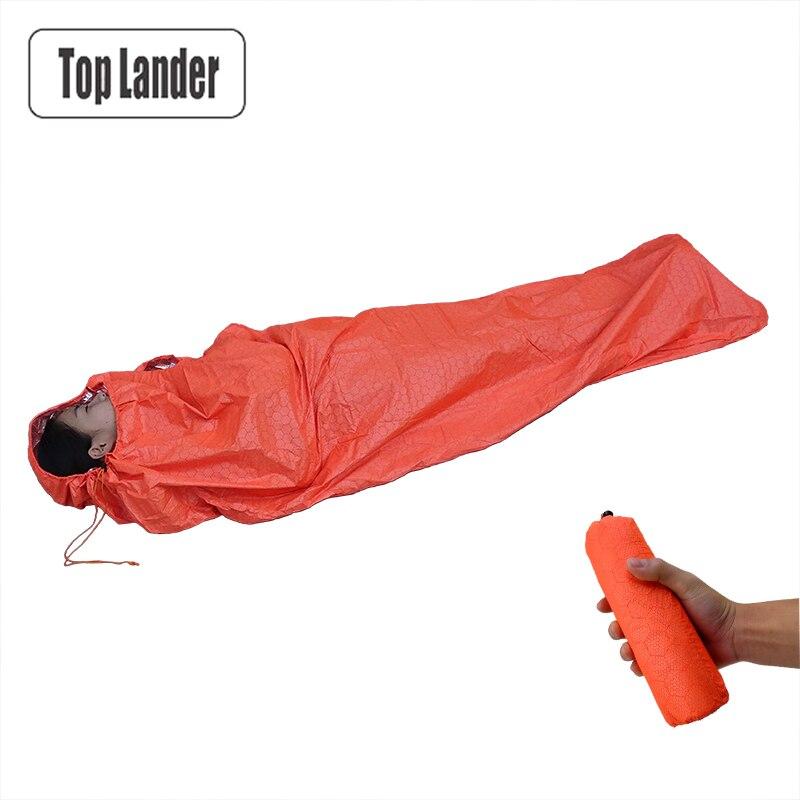 Emergency Sleeping Bag Ultralight Portable Sack First Aid Keep Warm Waterproof Reflective Mummy Single Survival Sleeping