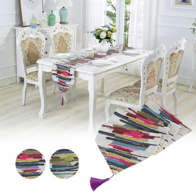Dining Room Table Runner: Aliexpress.com : Buy Colorful Stripes Table Runners Living