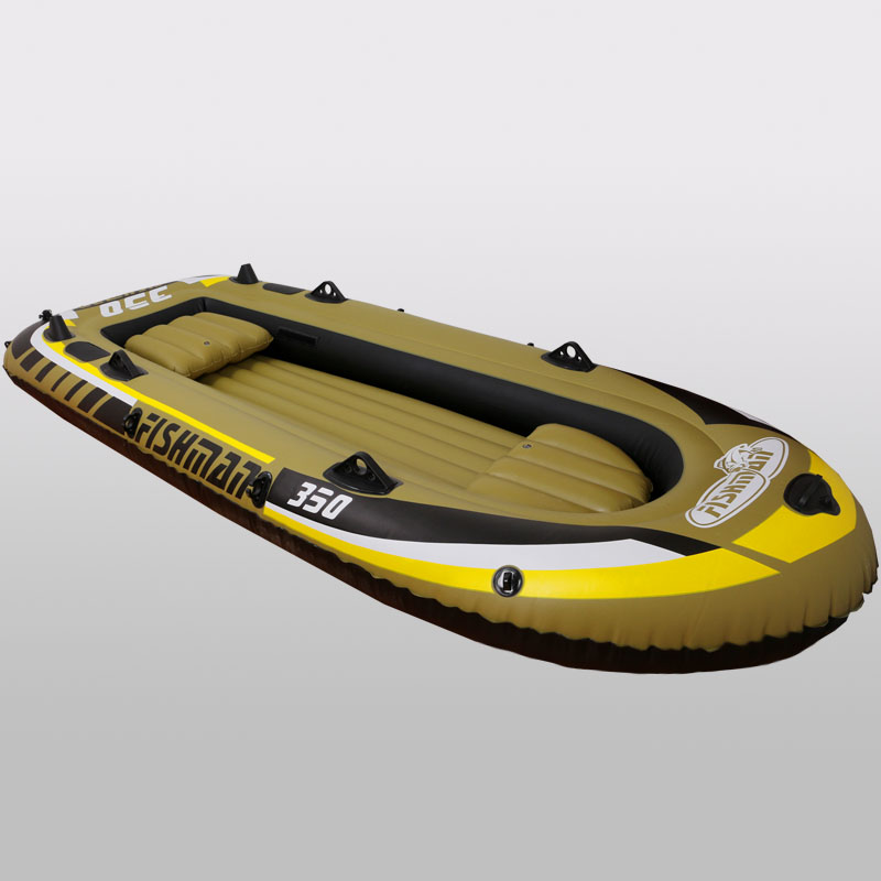3+1 Person 305*136*42cm thick fishing boat inflatable boat kayak dinghy raft accessory canoe alumnium oar paddle pumpA06008 6