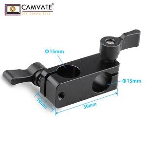 Image 2 - CAMVATE 90도로드 리거 어댑터 클램프 DSLR 15mm로드 시스템 숄더 마운트 C1102 카메라 사진 액세서리