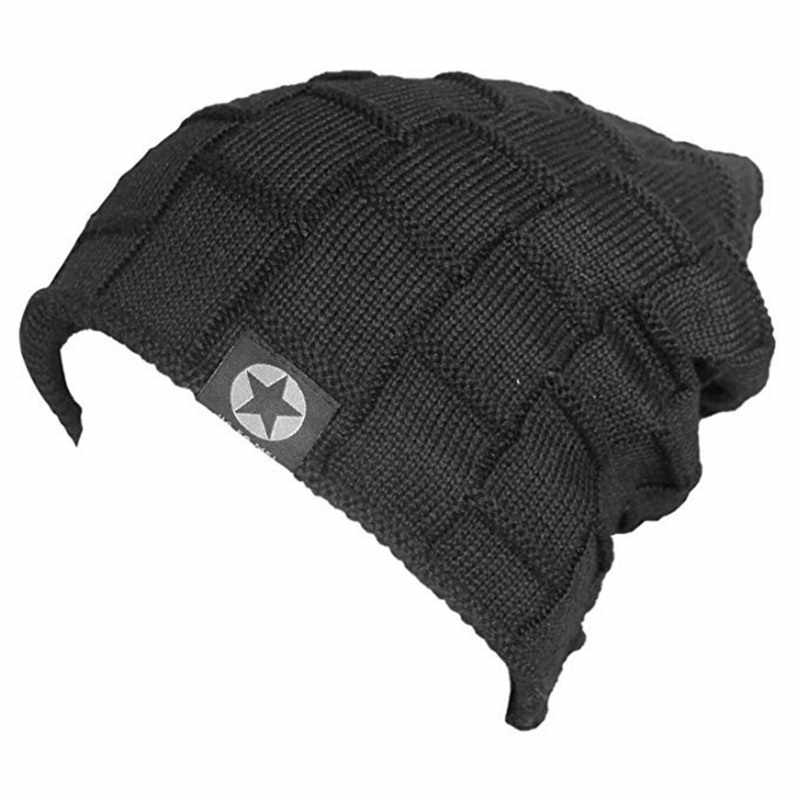 445fc623dd0 ... 2018 Unisex Fleece Lined Beanie Hat Knit Wool Warm Winter Hat Thick  Soft Stretch Hat For ...