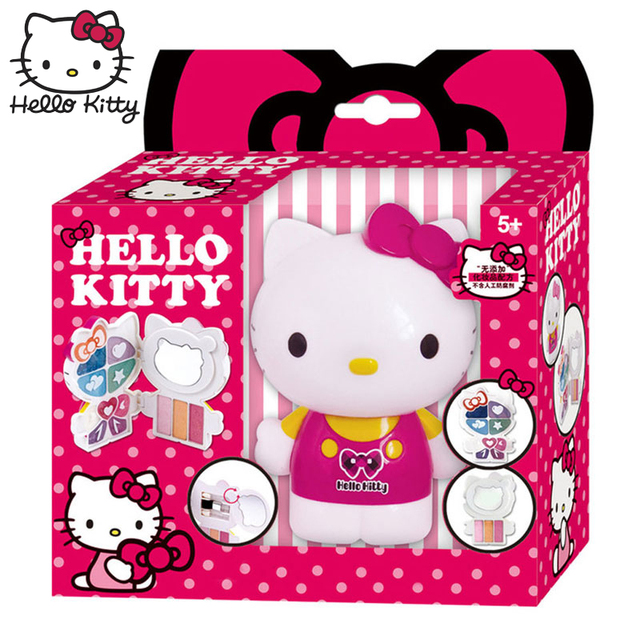 a9d73f61c Hello Kitty Kids Princess Makeup Kit Safety Beauty Girls Make Up Box Set  for Role Pretend Play Toy Non Toxic Birthday Gift Packa