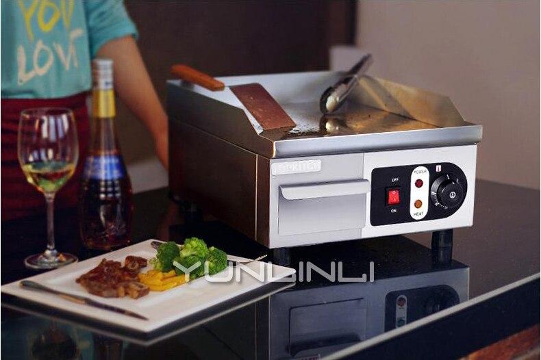 comercial eletrica griddle comercial equipamento teppanyaki bife 04