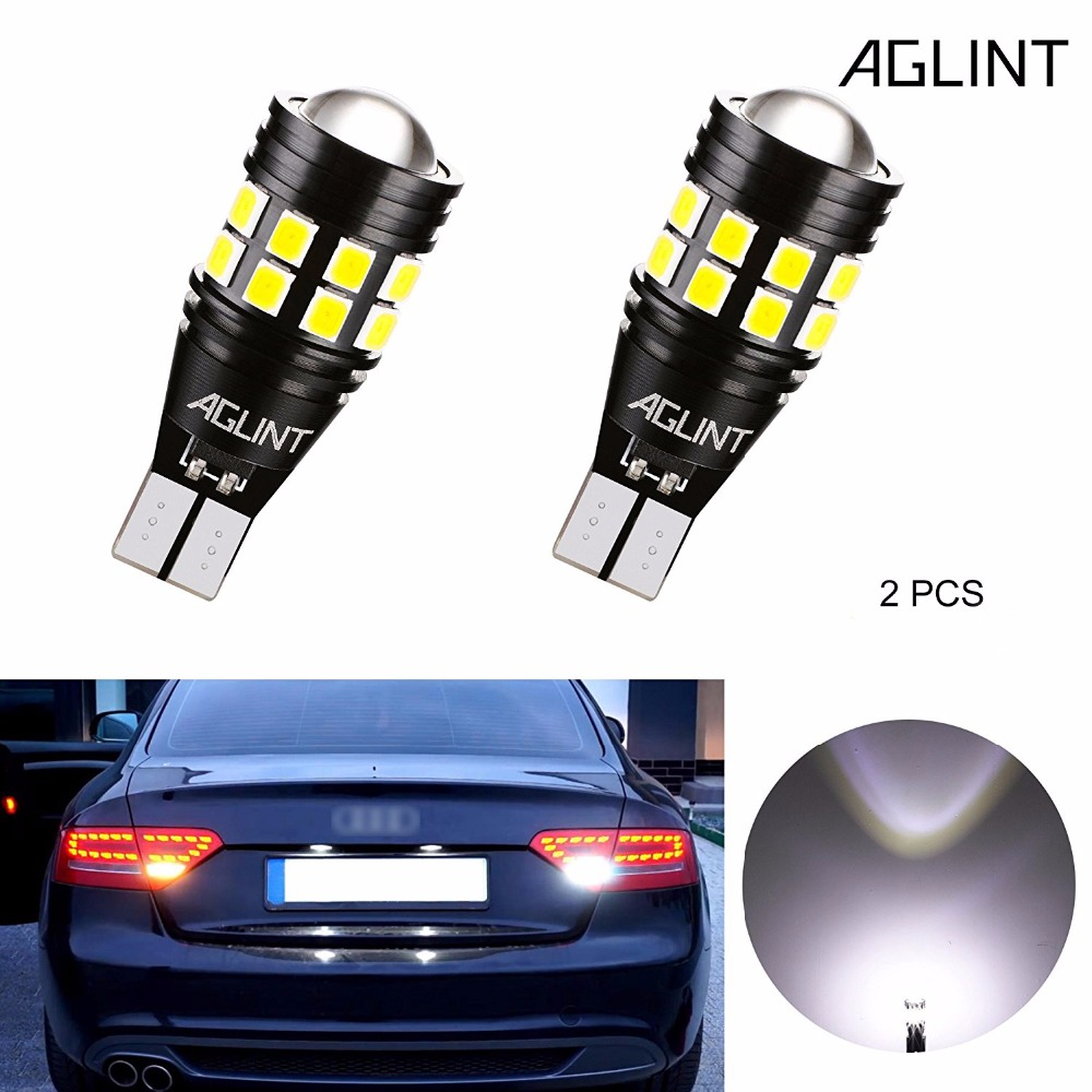 AGLINT 2 PCS T15 W16W Lâmpadas LED Car CANBUS Erro Gratuito 3030SMD 22 LEDs Luz De Estacionamento de Backup Cauda Reversa luzes Brancas 12 V 24 V