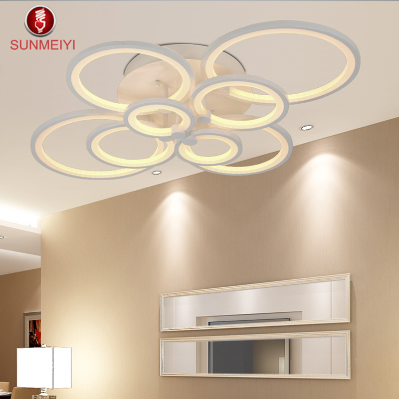 buy surface mounted modern led ceiling lights for living room light fixture indoor lighting home decorative lampshade from reliable