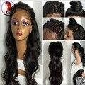 8A Grado Onda Natural Con el Pelo Del Bebé Del Cordón Humano Pelucas de cabello 100% Sin Procesar Peluca Brasileña Virginal Del Pelo Negro mujeres