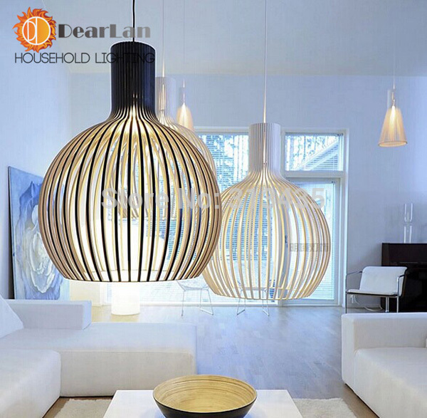 modern fashional painting art creative whileblack pendant lights with fashional cage shade hanging lamps