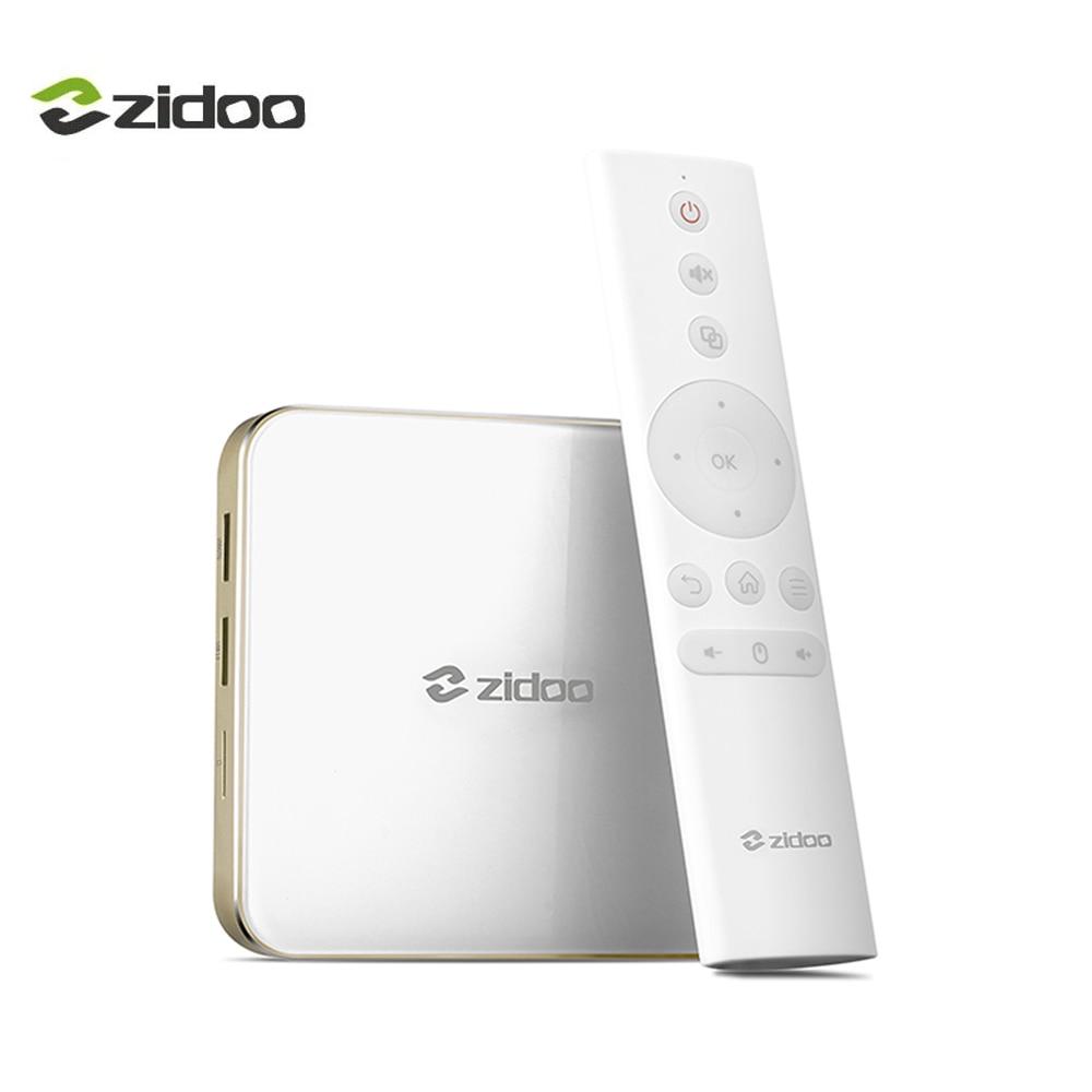ZIDOO H6 Pro Android 7.0 4K TV Box Bluetooth 4.1 in Set-top Box Quad-core DDR4 4K*60fps 10Bit 2BG+16GB eMMC 1000M LAN Dual WIFI himedia m3 quad core android tv box home tv network player 3d 4k uhd set top box free shipping
