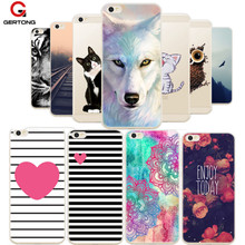 GerTong Soft TPU Cover Case For Xiaomi Redmi 4A Note 4X 4 Pro Prime 3S 2 3 Mi5 Mi4 Mi6 Mi 5 A X Coque Capa Patterned Phone Cases