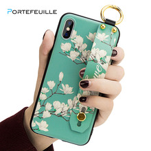 PORTEFEUILLE Multifunction cute Wristband square for iphone 6 7 8 plus case leather luxury