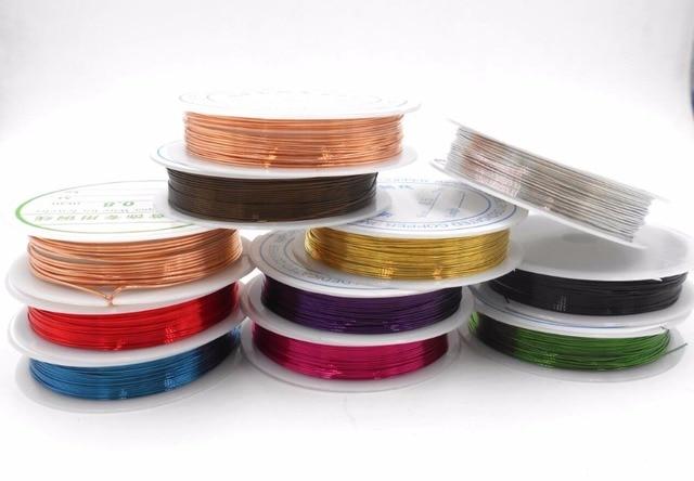 0,3mm rot gold silber farben metallfaden string perlen seil perlen ...