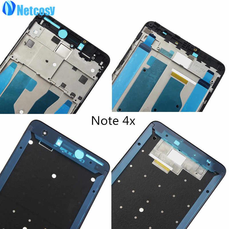Màn Hình LCD Nhà Ở Tấm Khung Viền Nhà Ở Nắp Mặt Trước Một Khung Ban Cho Xiaomi Redmi Note 4 4X Note4 Note4x Trung khung Sửa Chữa