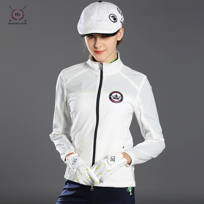 2017 Autumn women golf jacket outdoor sports coat lady slim zipper short coat top quality 3 colors girl golf gersey coat shirt polo golf clothes costume lady golf zipper collar shirt cotton autumn jacket long sleeved tshirt fashion korean female clothing