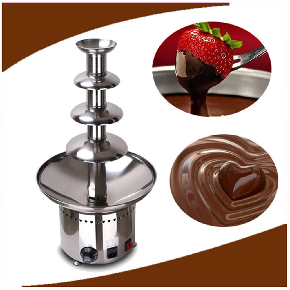 Chocolate 4 Tiers Commercial Chocolate Fountain Machine  ZF