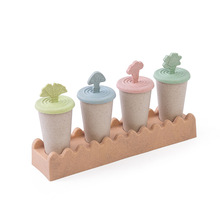 купить 4 Cavity Food Grade Silicone Ice Cream Mold Popsicle Mold Thick Material DIY Molds Maker With Popsicle Sticks дешево