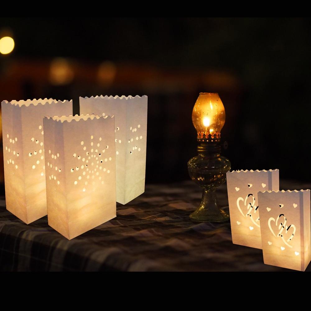 20Pcs/lot Romantic Lantern Paper Candle Bag Outdoor