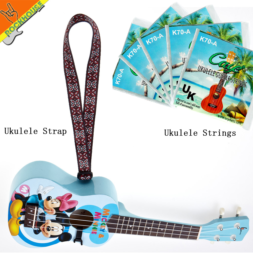Orphee Ukulele strap and Ukulele strings 024-037 affordable Imported special materials for ukulele package free shipping
