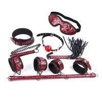 Sex Handcuffs bdsm Bondage Erotic Toys for Women BDSM Sex Porno Adult Games Collar Gag Whip Mask for Sex