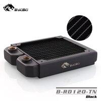 Bykski 120mm Black pc cooler Copper Radiator Water Discharge Liquid HeatSink for 12cm PC Fan About 30mm thick B RD120 TN