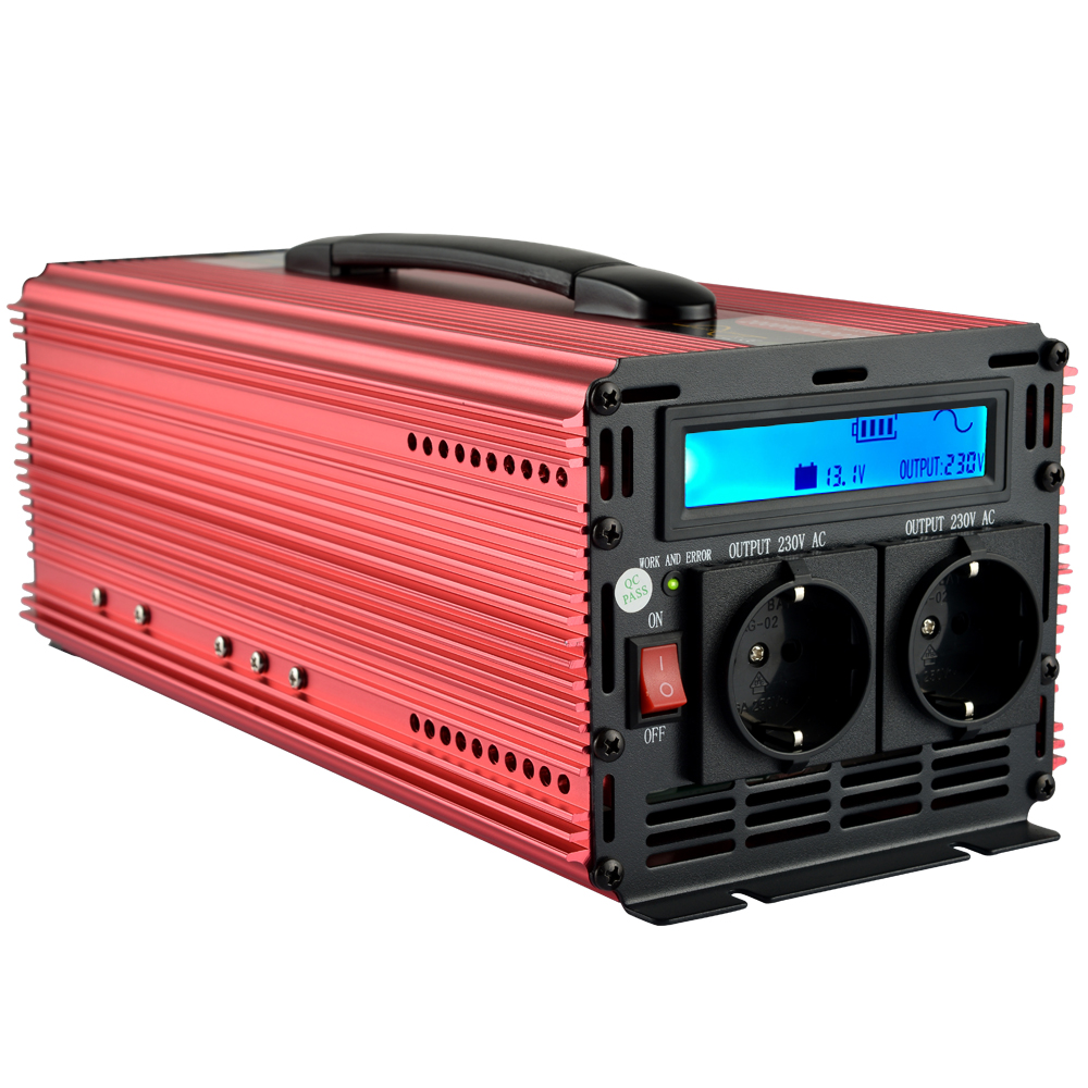 LCD 2500W/5000W pure sine wave solar power inverter DC 12V 24V to AC 220V 230V off grid inverter maylar 22 60vdc 300w dc to ac solar grid tie power inverter output 90 260vac 50hz 60hz