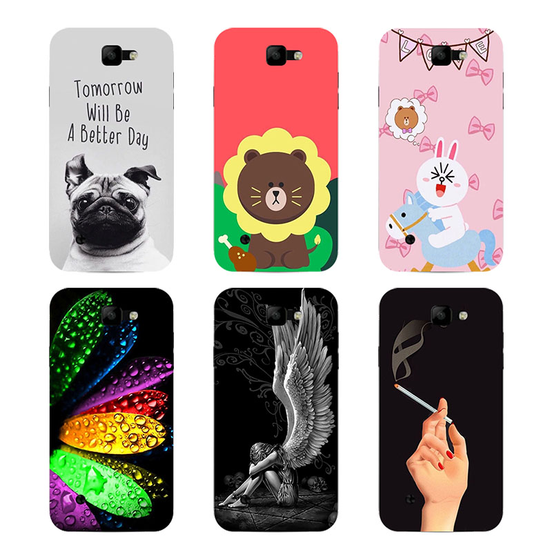 Original Cover For <font><b>LG</b></font> K3 LTE <font><b>K100</b></font> K100DS LS450 Fashion Print Lovely Leaves Hard Plastic Phone Cover Coque Smartphone image