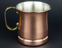 copper Moscow Mule Mugs over ice Bermuda Kentucky Mexican Mule cups/z