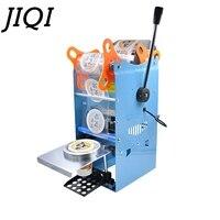 JIQI Manual Handle cups sealing machine hand electric drink sealer pressure lid sealing maker Bubble milk tea shop closure Cup