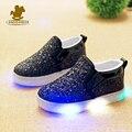 2016 bebé niño zapatillas de niños niñas led shoes kids running sport flash shoes sneaker niños calzado con iluminación