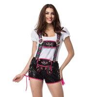 Witte Boer Top en Lederhosen Bier Meisje Kostuum Cosplay Halloween Kostuums Voor Vrouwen Sexy Maid Kostuum Deguisement Adultes