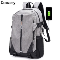 USB Unisex Design Backpack Book Bags For School Backpack Casual Rucksack Daypack Oxford Canvas Laptop Fashion