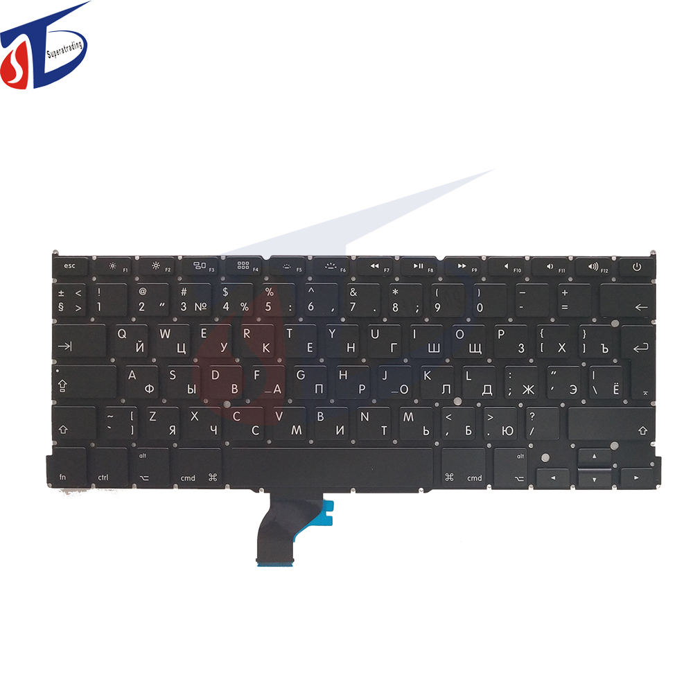 5pcs/lot New For Apple Macbook Pro Retina 13 A1502 Keyboard Russian Keyboard RU Replacement ME864 ME865 ME866 2013 2014 2015 image